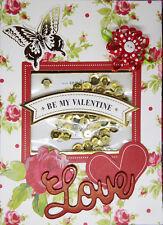 Valentine's Cards 2018 Set of 6 Homemade Shaker Cards Set 4