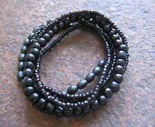 Surferarmband Armband Gummiarmband schwarz Bracelet black Holz Surf Surferstyle