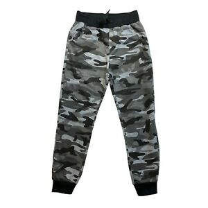 Boys Joggers Camo Camouflage Kids Jogging Sports Tracksuit Bottoms Joggers Grey