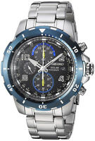 Seiko Men's Jimmie Johnson Solar Chrono 100m Stainless Steel Watch SSC637