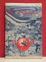 1949 New York Yankees Official Program and Score Card vs. Cleveland