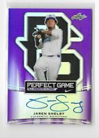 2015 Leaf Baseball Perfect Game Rookie autograph purple 05/15 Jaren Shelby