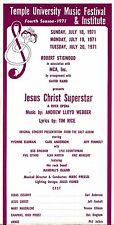 """Yvonne Elliman """"JESUS CHRIST SUPERSTAR"""" Carl Anderson 1971 Concert Broadside"""