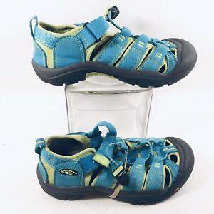 KEEN Newport H2 Sandals 1012314 Big Kids Blue Waterproof Bumper Toe US 2 EUC
