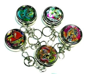 Pocket Ashtray with Key Ring TATTOO Designs Lovely Gift-with VELVET POUCH