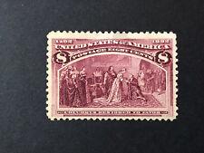 GandG US Stamps #236 Columbian Issue 8c Restored To Favor MH OG ($52.50)