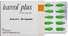 Karvol Plus Capsules Inhalant Clear Congestion Cold Cough 20 Capsules
