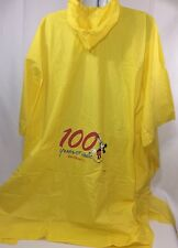 Disney World Mickey Mouse Poncho Rain Yellow 100 Years Of Magic Adult One Size