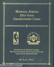 UDA MICHAEL JORDAN 22 KT GOLD CHAMPIONSHIP SET UDA DANBURY MINT 6 CARDS