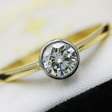 Vintage 18ct Yellow Gold 0.50ct Solitaire Diamond Ring