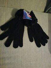 Ladies Black Chenille Gloves