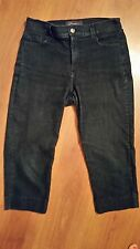 NYDJ Not Your Daughters Jeans Capri Crop size 8 x 20 Dark Wash Lift Tuck