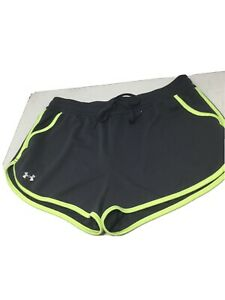 Women's Under Armour Semi-Fitted Heat Gear Gray Athletic Shorts Sz M Pockets