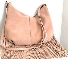 New Margot Leather Suede Fringe Hobo Shoulder Bag Cross body