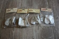 Lot of 4 Vintage Pair of White Doll Shoes Boots Tallina's