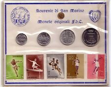 San Marino   Souvenir Monete Originali FDC + Francobolli