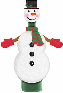 Christmas Snowman Wine Bottle Jacket Cover Xmas Party Decoration Deco Champagne