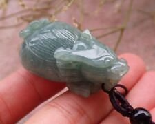 New ListingCertified Green Burma Natural A Jade jadeite pendant Dragon Turtle 龙龟 635171