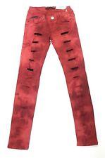 CIPO & BAXX Damen Jeans Hose Designer Women Denim CBW-0518 Rot Red Neu