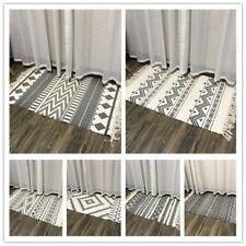 Cotton Area Rug Hallway Carpet Runner Bedroom Living Room Floor Mat Washable