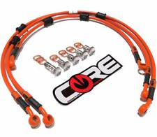 Honda Grom Brake Lines 2016-2017 Front-Rear Orange Stainless Steel Braided Kit