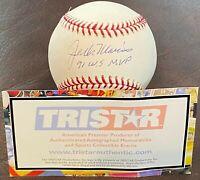 JACK MORRIS Autographed Signed Insc Baseball Detroit Tigers Blue Jays TRISTAR