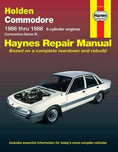 Holden Commodore VL 6 cyl 1986-1988 Haynes Workshop Service Repair Manual
