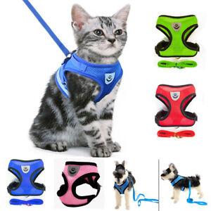 Cat Dog Harness Collar Vest Pet Walking Leash Puppy Dogs Collars Small Dog Cat