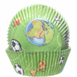 Football Cupcake Cases x60 Baking Muffin Bake Off World Cup