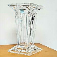 "Partylite 7"" Reversible Crystal Glass Pedestal Candle Holder Vase Germany New"