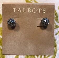 TALBOTS SMALL STUD MINI-BLING CHARCOAL EARRINGS NWT