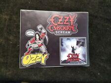 """OZZY OSBOURNE Scream Promotional Sticker Sheet 8-1/4"""" X 6-3/4"""""""