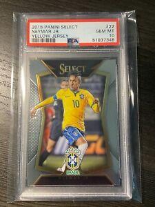 2015 Neymar Jr. Panini Select PSA 10 #22 Brazil PSG First Select