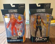 Marvel Legends Fantastic Four Human Torch, Namor, Walgreens Exclusive LOT