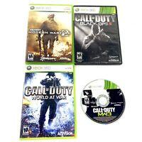Xbox 360 Game Lot Call Of Duty Bundle (Modern Warfare, World At War, Black Op 2)