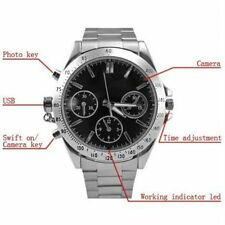 4 GB Waterproof Spy Camera Wrist Watch Audio Video Recorder| Pen Chain Button
