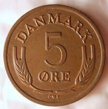 1964 DENMARK 5 ORE - High Quality Vintage Coin - FREE SHIPPING - Denmark Bin #3