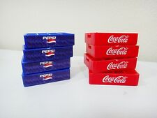Lot of 8 Miniature Coca Cola Coke-Mixed Pepsi Plastic-Case-Crate Tray Souvenir