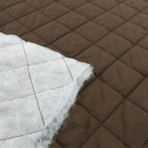 Weißes Steppfutter warmer Baumwollstoff kuschelig wattiert gesteppt Meterware