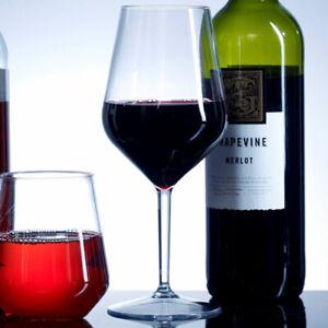 Tritan Plastic Reusable Wine Glasses (Set of 6)