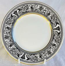 "Wedgwood Florentine 8""/20cm's Dessert or Salad Plate Black & Gold Bone China"
