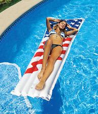 "Swimline Americana Inflatable 72""x27"" Swimming Pool Floating Mattress Raft"