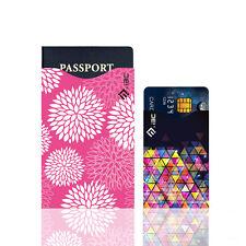 Anti-theft RFID 5 ID/Credit Card & 1 Passport Sleeve Scan Safety Travel LN8Z