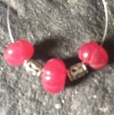 Genuine Earth Mined Carved RUBY beads 6 to 8mm gemstone #214J L@@K