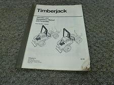 Timberjack 230 Forwarder Logging Owner Operator Maintenance Manual S/N AA5258