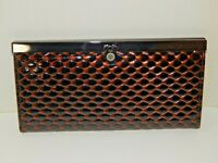NEW - Women's Copper-Colored Shiny Patent Leather Clutch Wallet - Very Nice!