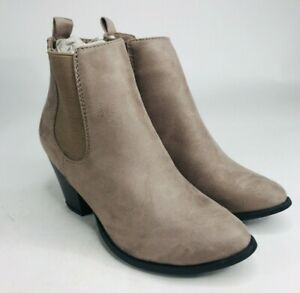 Sociology Chelsea Ankle Booties Womens Size US 7.5 Mushroom Gray