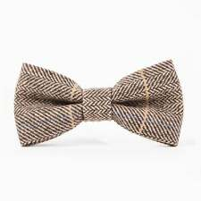 Marc Darcy DX7 Tan Tweed Bow Tie