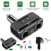 12V Car Cigarette Lighter Adapter 2 Way Double Plug Socket Charger Splitter G1