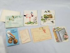 Vintage Greeting Cards Baby Birth Announcements Lot * Used